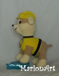 MarionArt: Rubble a Mancs őrjáratból amigurumi minta Crochet, Teddy Bear, Amigurumi Minta, Toys, Animals, Crochet Mickey Mouse, Crocheting, Activity Toys, Animales
