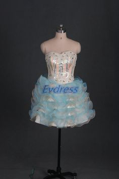 Hey, I found this really awesome Etsy listing at https://www.etsy.com/listing/200306583/short-blue-organza-homecoming