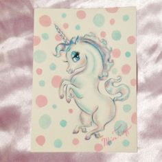 Nursery Art, Nursery Decor, Pretty Pictures, Pretty Pics, Miss Fluff, Unicorn Art, Watercolor Drawing, Whimsical Art, Cute Art
