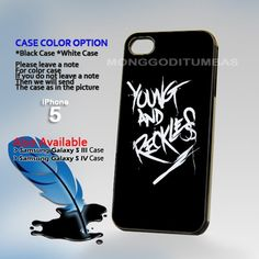 Young and Reckless Art Logo Hard Plastic iPhone 5 Case Cover   MonggoDiTumbas - Accessories on ArtFire