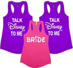 Bachelorette Party Disney Tank Tops Wedding Tank by livefitapparel