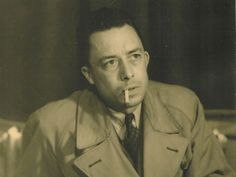 Albert Camus. Streets of Paris while writing The Stranger.