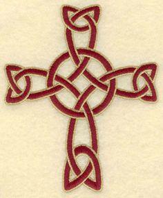 Woven Celtic Cross embroidery design