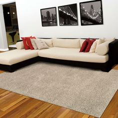 These rugs are very easy to maintain, colourfast, anti static and moth proof and will add style and texture to your room. Living Room Grey, Living Room Modern, Rugs In Living Room, Striped Couch, Nourison Rugs, Living Treasures, Large Area Rugs, Red Rugs, Modern Rugs