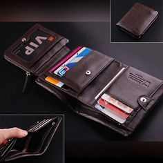 $100 Men's ITALIAN Genuine Leather Trifold Pocket Wallet Purse *** For more information, visit image link.