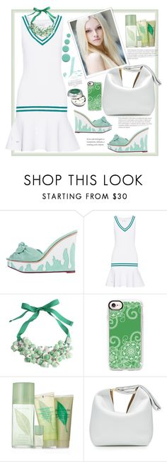 """""""White green collection"""" by natalyapril1976 ❤ liked on Polyvore featuring Charlotte Olympia, L'Etoile Sport, P.A.R.O.S.H., Casetify, Elizabeth Arden, Victoria Beckham and Jin Soon"""