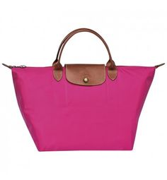 66a2615269be Longchamp Le Pliage Medium Handbag Cyclamen  trip  bag Pink Shoulder Bags