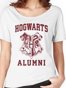 Hogwarts Alumni | Harry Potter Hogwarts Quote Shirt, Hogwarts Seal, Hogwarts Crest Women's Relaxed Fit T-Shirt