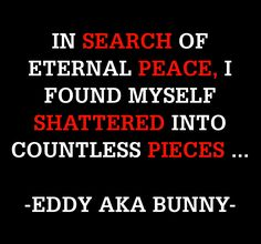 THOSE ARE LUCKY WHO HAVE PEACE IN THEIR LIVES ...