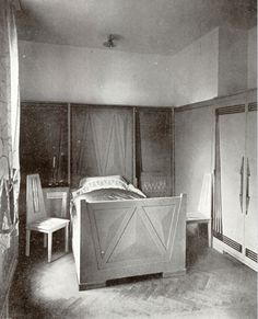 INTERIORS (Jugendstil): Bedroom from Peter Behren's house in Darmstadt (1901).