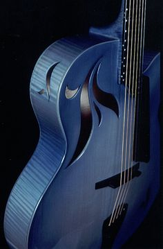 Gorgeous art in & on guitar Benedetto La Cremona Azzurra (from the late Scott Chinery Blue Guitars Collection, Smithsonian Institute) Guitar Art, Jazz Guitar, Cool Guitar, Blue Guitar, Violin Music, Rick E, Guitar Collection, Beautiful Guitars, Love Blue