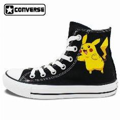 [ $26 OFF ] Pokemon Go Pikachu Converse Chuck Taylor Women Men Shoes Design Hand Painted High Top Canvas Sneakers Cosplay Christmas Gifts