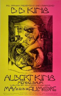 Tour Posters, Band Posters, Vintage Concert Posters, Vintage Posters, Fillmore West, Jazz, Albert King, Rock & Pop, Music Images