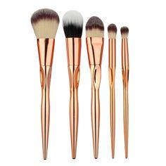5pcs Makeup Brushes Cosmetic Powder Blush Contour Foundation Eyeshadow Make-up…