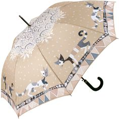 Brunello by Rosina Wachtmeister Art Umbrella Automatic Walking Length - Brolliesgalore