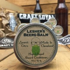Lesher's Beerd Beard Balm by CraftLoyal on Etsy https://www.etsy.com/listing/237790836/leshers-beerd-beard-balm