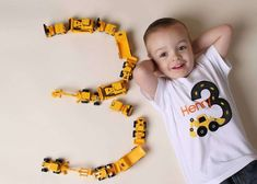 Birthday Party Construction Kids 55 Ideas For 2019 Construction Birthday Parties, 4th Birthday Parties, Construction Party Games, Birthday Ideas, Construction Birthday Invitations, Fete Laurent, Digger Birthday, Digger Party, Foto Baby