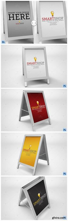 Poster Stand Display Mockup - CM 559194