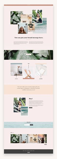 The Minnie Squarespace Template Kit is a modern and clean website design with fun collage style elements and bold full width imagery. The layout is simple and streamlined, but the design is artistic and creative. This website template is perfect for Site Web Design, Web Design Tools, Website Design Layout, Fashion Website Design, Design Design, Design Ideas, Graphic Design, Website Design Inspiration, Beautiful Website Design