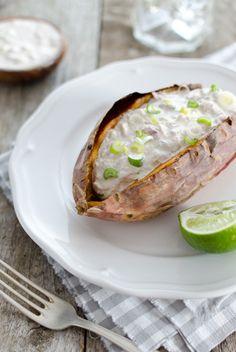 Schnelle Rezepte - Süßkartoffeln mit Thunfischsalat