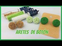 ARETES BOTÓN /PEYOTE CIRCULAR/ARETES DE MOSTACILLAS - YouTube Seed Bead Earrings, Beaded Earrings, Earrings Handmade, Seed Beads, Beading Tutorials, Beading Patterns, Seed Bead Projects, Peyote Beading, Tutorials