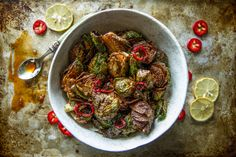 Honey Sriracha Fried Brussels Sprouts