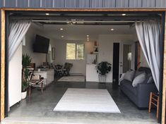 Today we at The Casa Club are showcasing a relatively new build in British Columbia; the Black Box Container Home. This unique container home is located. Garage Playroom, Garage Game Rooms, Garage To Living Space, Garage Office, Garage House, Living Spaces, Dream Garage, Garage Renovation, Garage Interior