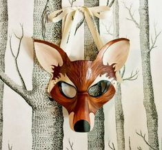 Handmade Leather Fox Mask (via sundries and plunder on etsy)