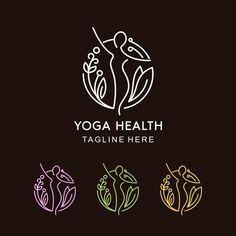 Yoga and Flower Mono line Design with different colors - Buy this stock vector and explore similar vectors at Adobe Stock Pilates Logo, Spiritual Logo, Plant Logos, Florist Logo, Yoga Logo, Web Design Studio, Sup Yoga, Flower Logo, Abstract Logo