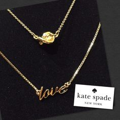 "NWT Kate Spade Gold Double Love Knot Necklace NWT Kate Spade Gold Double Love Knot Necklace...Dainty double necklace 'love' & 'knot' in gold features a detachable design for layered or solo wear. 12K gold-plated, 15""L with 3"" extension; 18""L . 1.5"" L drop when worn together. Lobster clasp closure, spring ring closure. Necklaces can be worn separately...#784 kate spade Jewelry Necklaces"