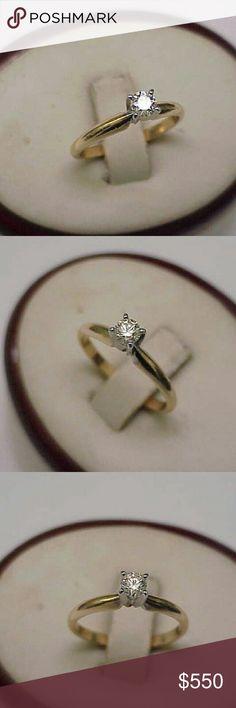 Spotted while shopping on Poshmark: Antique 14k gold. 25ct diamond engagement ring! #poshmark #fashion #shopping #style #Jewelry