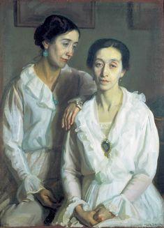 Dos Hermanas, 1922 by José María López Mezquita (Spanish 1883 - 1954)