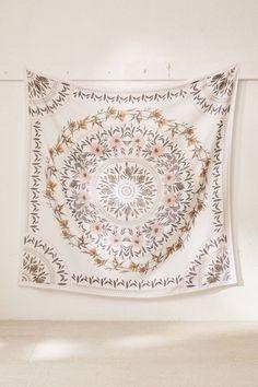 Sketched Floral Medallion Tapestry - my room - wandkunst Girls Bedroom, Bedroom Decor, Bedroom Ideas, Wall Decor, Hippie Bedrooms, Bedding Decor, Bedroom Images, Design Bedroom, Bedroom Inspo
