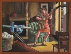 ernie-barnes-woman-ironing.jpg (480×365)