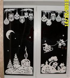 for magic windows (printables included) Noel Christmas, Christmas Crafts, Xmas, Christmas Window Decorations, Kirigami, Christmas Printables, Holidays And Events, Paper Cutting, Paper Crafts