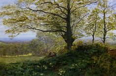 George Vicat Cole was an English landscape painter. Thanks to Tim Barringer for corrections to mistaken attributions, as a resu. Paintings I Love, Nature Paintings, Beautiful Paintings, Traditional Landscape, True Art, Old Master, Sculpture Art, Serenity, 19th Century
