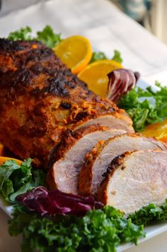 Try this easy recipe for roasted pork loin marinated with smoked paprika, garlic, and orange.