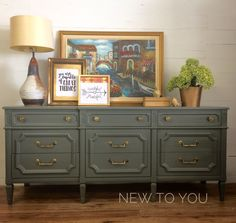 Painted Dresser/Buffet Cast Iron by Sherwin Williams.
