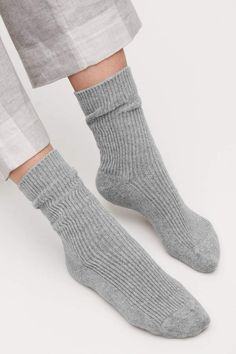 ea962b2018c15 Cos RIBBED CASHMERE SOCKS Cashmere Socks, Sock Shop, Cool Socks, Cos, Tights