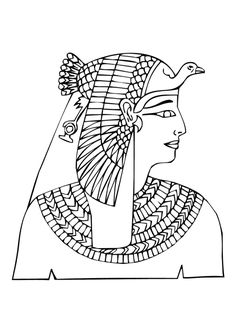 printable to draw the Udjat or Eye of Horus  an ancient Egyptian