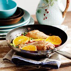 Frango no forno com molho de laranja