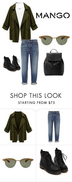 """""""SOMETHINGINCOMMON"""" by kayrahnow ❤ liked on Polyvore featuring Alexander Wang, Oliver Peoples and MANGO"""