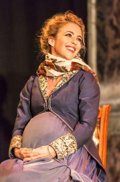 "Miranda Raison as Hermione in ""The Winter's Tale"" (Zimowa opowieść) at The Garrick Theatre. #KennethBranagh #JudiDench #Shakespeare"