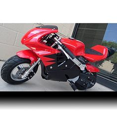 """Red"" Pocket Bike, Superbike, Mini Ninja Bike, Honda Clone, 40cc, 4-stroke, Pull Start,fast! 