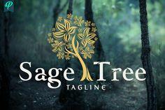 Sage Tree Logo Design by PenPal on @creativemarket
