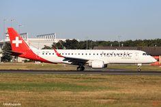 HB-JVQ, Bild vom 25.08.2016 in Frankfurt, (FRA), CN 19000420, ERJ 190-100LR, Helvetic Airways