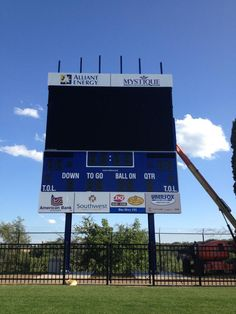 New Daktronics video scoreboard coming to Ralph E. Davis Pioneer Stadium in the fall of 2012, pictured as of July 26 at 6 p.m.