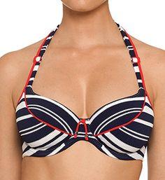 e44fe65896 Prima Donna Pondicherry Tulip Seam Bikini Swim Top (4003812) 32D/Sailor