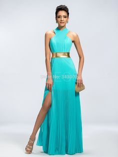Resultado de imagem para vestido para festa azul tiffany