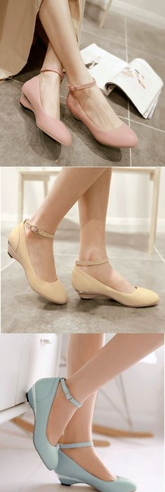 Comfy and super elegant flats with a small chunky heel + ankle trap! Like it? Get them for $29.99! Click to enjoy our Lucky Home Coming Sale, up to 60% off until September 12 ♥
